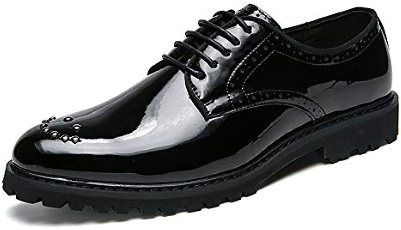Scarpe da Uomo Business Oxford Casual Classic Comode Scarpe a Punta con Decorazione a Forma di Paillette Pattent... | Sale Online  | Scolaro/Ragazze Scarpa
