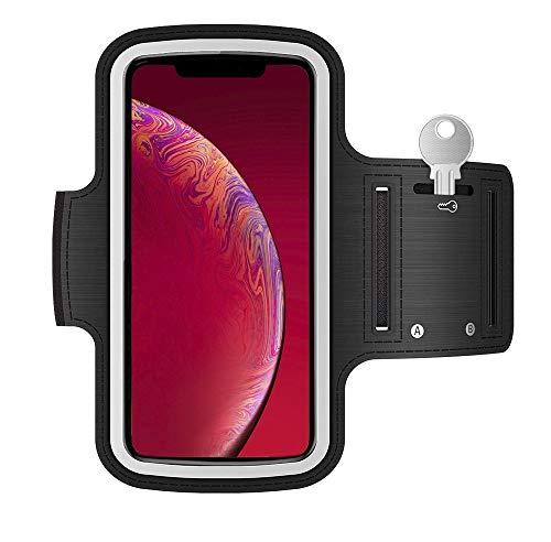 Revenlo Fascia da braccio compatibile con Samsung Galaxy J6+ bracciale sportivo (Nero)