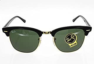 RAY BAN ClubMaster Noir/dore Mixte Indice 3 (B00TOWQTQO) | Amazon price tracker / tracking, Amazon price history charts, Amazon price watches, Amazon price drop alerts