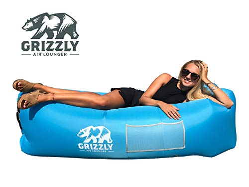 *Grizzly Luftsofa Couch, Aufblasbarer Wasserdichter Air Lounger, Aufblasbare Liege, Luftsack, Aufblasbarer Sitzsack, Sofa Mit Tragebeutel, Integriertem Kissen Für Indoor, Outdoor*