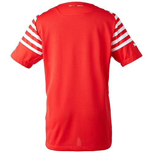 PUMA Herren Shirt AFC Prematch Jersey EPL with Sponsor Logo High Risk Red-White