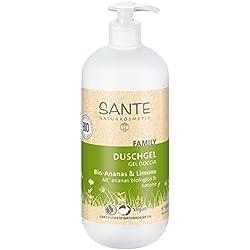 SANTE Naturkosmetik Duschgel Bio-Ananas & Limone, 950ml Familiengröße mit Pumpspender, Fruchtig-frischer Duft, Vegan, Ohne Mikroplastik, Für Frauen & Männer