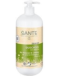 SANTE Naturkosmetik Duschgel Bio-Ananas & Limone, 950ml Familiengröße mit Pumpspender, Fruchtig-frischer Duft, Vegan
