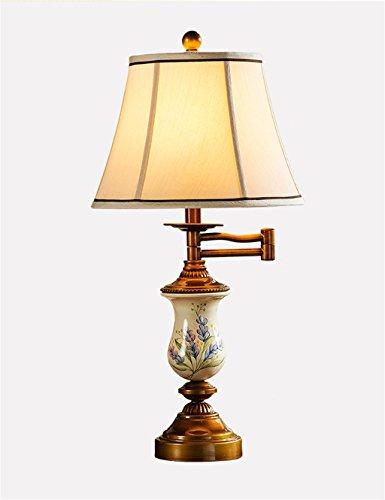 LIANBIAN Tischleuchte Amerikanische Kreative Hand - gemalt Rocker Eisen Tabellen-Lampe für Hochzeitszimmer, Arbeitszimmer, Schlafzimmer, Nachttischlampe Nachttischlampen
