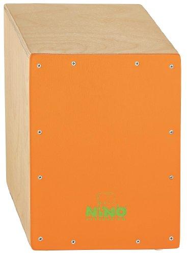 Nino Percussion NINO950OR Cajon 33 cm (13 zoll) mit orangefarbener Frontplatte