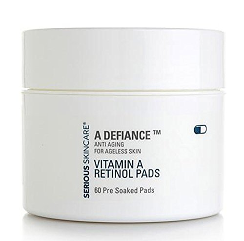 Serious Skin Care A Defiance Vitamin A Retinol Pads 60 Count Pre-Soaked Pads by Serious (Pre Soaked Pad)
