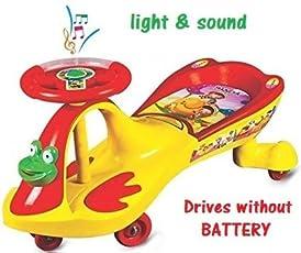 Goyal's Baby Free Wheel Magic Toy Car - Yellow & Red