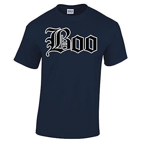 Halloween Old English Boo-Geist-Abendkleid-Partei-Kostüm Herren T-Shirt (Old English Kostüm)