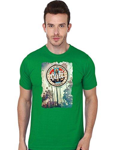 Beyond Colours Men Cotton T-Shirt LA Green Large