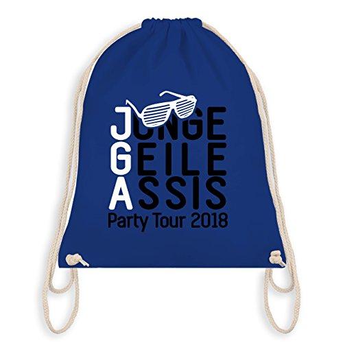 JGA Junggesellenabschied - JGA - Junge Geile Assis 2018 - Turnbeutel I Gym Bag Royalblau