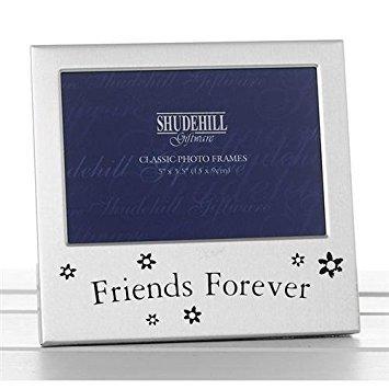 SHUDEHILL Bilderrahmen, Schriftzug 'Friends Forever', 12,7 x 8,9 cm, silberfarben