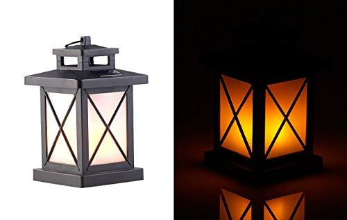 nen: Solar-Gartenlaterne mit 32 Flammeneffekt-LEDs, Lichtsensor, Akku, IPX3 (Solar LED Laterne) ()