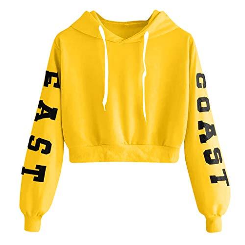 Frauen Kurzer Absatz Hoodie Solid Brief Drucken Casual Kapuzenpullover O-Ausschnitt Langarm Pullover Mode Drawstring Outdoor Casual Bluse -