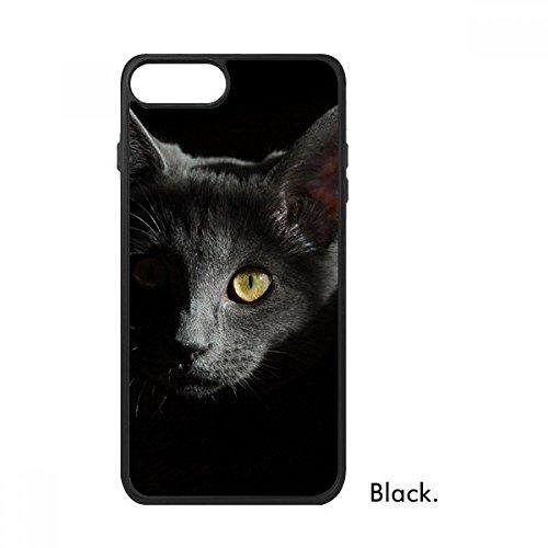 DIYthinker Schwarze Katze Tier Wilde Stare Dunkel für iPhone 7 Fälle phonecase Apple-Abdeckungs-Fall-Geschenk iPhone 7 Fall - Wilde Fallen Katzen Für Falle
