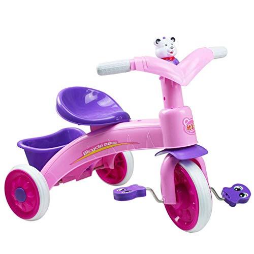 ZLMI Andador para bebés, Bicicleta para niños Triciclo para niños Bicicleta Caminante Pedal Infantil Bicicleta con luz y música Asiento Ajustable,Purple