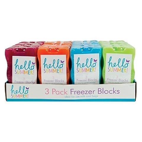 Congélateur blocs–Lot de 3–Idéal pour les pique-niques, Cool, Sacs, Sacs de voyage, vacances/sans aimant pour réfrigérateur