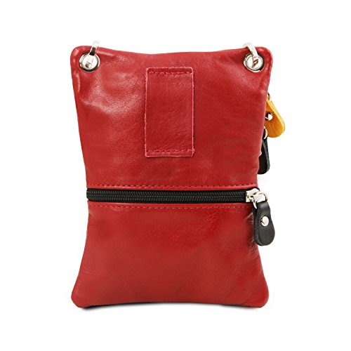 Tuscany Leather TL Bag Tracollina in pelle morbida Cognac Rosso