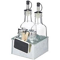 Kitchencraft We Love Verano salero y pimentero/para Salsas y condimentos–metálico, Juego de 6