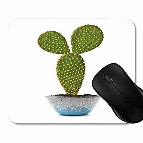 Preisvergleich Produktbild Mauspad Houseplant Green Cactaceae Opuntia Cactus White Flora Rutschfeste Gummi Basis Mouse pad,  Gaming und Office mauspad für Laptop,  Computer PC 1H1500