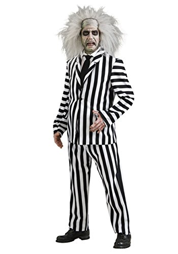 Adults Beetlejuice Sets Beetle Juice TV Film Halloween Fancy Dress Costume[Standard Costume Only]