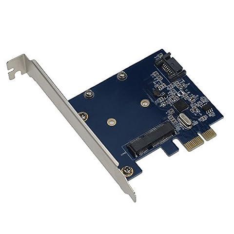 Sedna–PCI Express mSATA III (6G) SSD Adapter mit