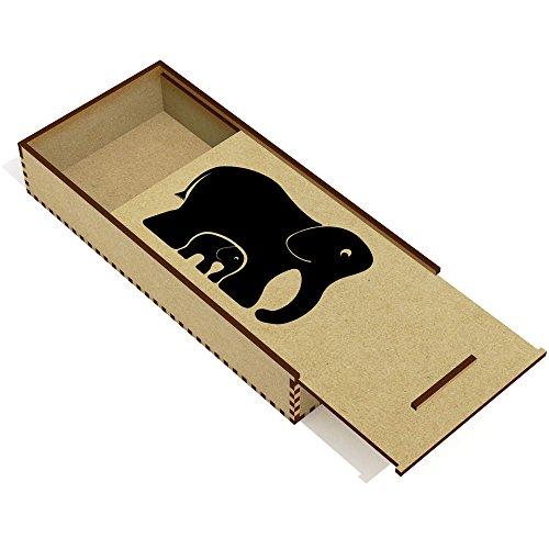 Azeeda 'Elefantes' Estuche de lápices de Madera (PC00004949)