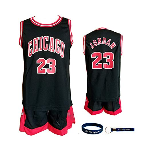 6e55fb4f0 Daoseng Chico Niño NBA Michael Jordan   23 Chicago Bulls Retro Pantalones  Cortos de Baloncesto Camisetas