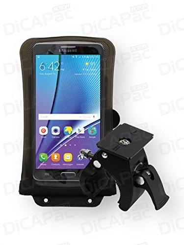 Wasserdicht Verizon-handys (Samsung GALAXY Note II US Cell. / Note II Verizon - Fahrrad & Motorrad Handyhalter / Lenkrad-Handyhalterung + große Handyhülle - wasserdicht bis 10m / GoPro® komp. / abnehmbar / 360° drehbar - schwarz)