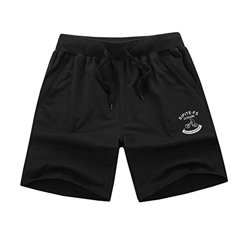 Plus Size Shorts For Men Summer Casual Male Fitness Men's Loose Shorts Black