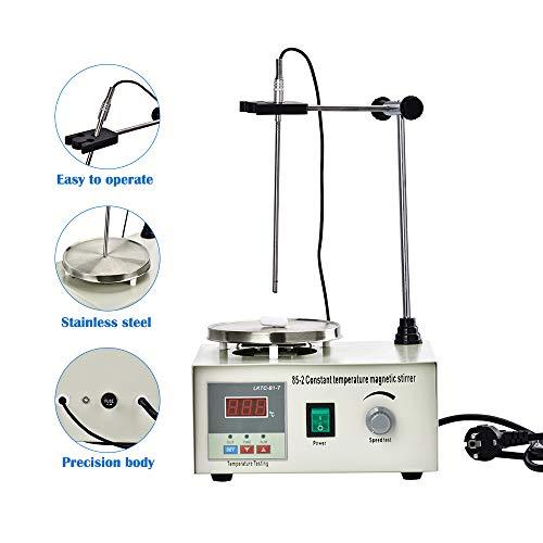 TOPQSC Magnetrührer Stirring Labor Thermostat Heizung Heizplatte Kochplattenmischer 85-2 Digital Magnetic Stirrer Mixer, 300W, 1000ml