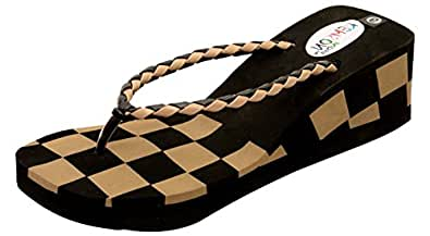 Remson India Women's Cream EVA Heeled Slip On Sandals-35 EU