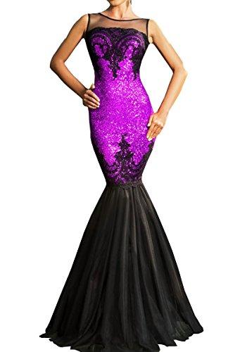 Dissa® SY60633 deman sexy kleider Party Abendkleid Violett