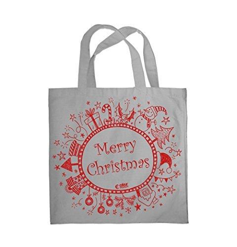 Colour Fashion Merry Christmas Winter Einkauf Fitness Strand Tragetasche 0083 Grau