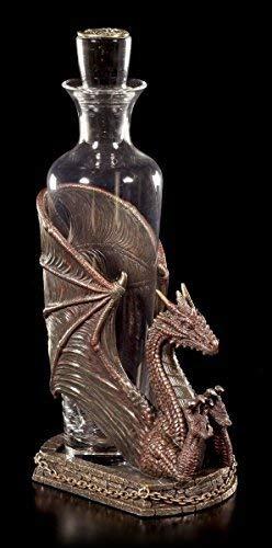 Drachen Flaschenhalter inkl. Flasche - Decanter Draconus | Veronese Figur Weinhalter