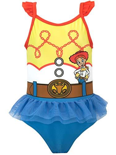 Disney Mädchen Toy Story Badeanzug Jessie Blau 110 (Kinder Für Cowgirl-outfits)