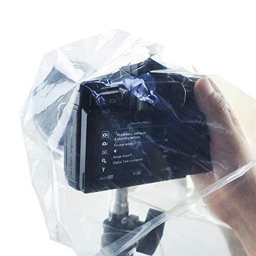 JJC RI-S Einweg-Regenschutzhülle für spiegellose Systemkamera (DSLM-Kamera) - 2 Stk. - transparent