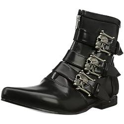 Demonia BROGUE-06 EU-BROGUE-06/B/NPU - Zapatos con Cordones para Hombre, Color Negro, Talla 40