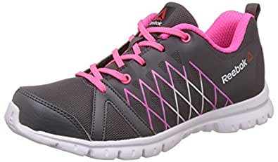 Reebok Women's Pulse Run Ash Grey, Solar Pink Running Shoes - 5 UK/India (38 EU)(7.5 US)