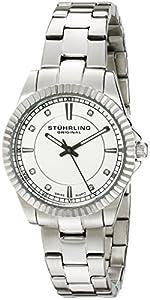 Stuhrling Original 408LL.01 - Reloj de cuarzo para mujer, correa de acero inoxidable color plateado de Stuhrling Original