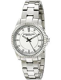 Stuhrling Original 408LL.01 - Reloj de cuarzo para mujer, correa de acero inoxidable color plateado