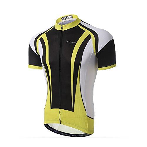 LSERVER Maillot Cyclisme Manches Courtes Maillot de Cyclisme VTT Vélo Respirant, Taurus, 2X (pour la Hauteur: 170-180cm la Poids: 73-80kg)
