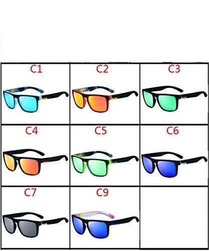 HYDYH SonnenbrillenPolarisierte sonnenbrille männer marke design fahren sonnenbrille platz brille für männer hohe qualität uv400 shades eyewear, c9
