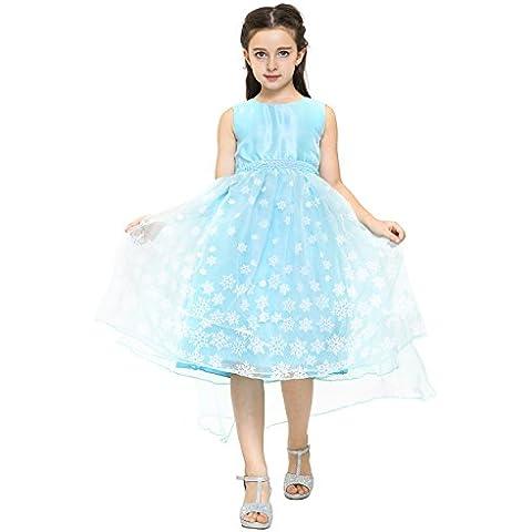 Katara - Vestido de disfraz para niñas, Elsa la reina de las nieves, 6-7 años (1724-03)