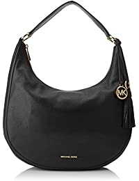 MICHAEL by Michael Kors Lydia Bolso Hobo de Cuero Negro Large Mujer