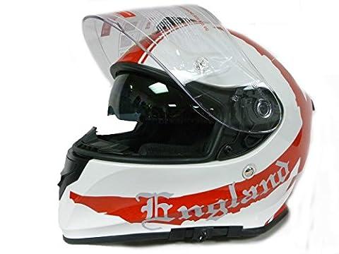 Casque de moto vcan V127Angleterre Moto Scooter visage complet Crash Casque de course, New 2016(red-xs)