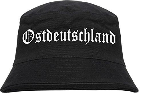 Ostdeutschland Fischerhut S/M Schwarz