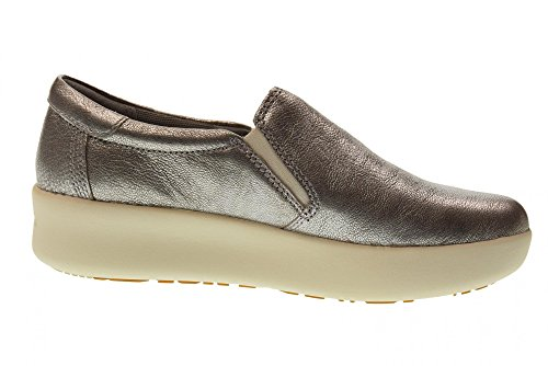 Timberland Women s Berlin Park Slip On Trainers  Grey  Silver 40   5 5  38 5 EU