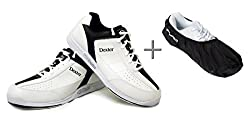 Dexter Ricky Iii Bowling Shoes & (Covers) Brunswick Defense Shoe Cover, Men Or Women, Left & Right Handed Shoe Size 38.5Blackwhite–47 Black-white Size:44,5 (Us 12)
