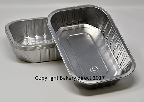 Foil Tray (bakery-direct- 25 aluminium-foil-tin-strong-disposable-baking-tray-loaf-pan-dish B)