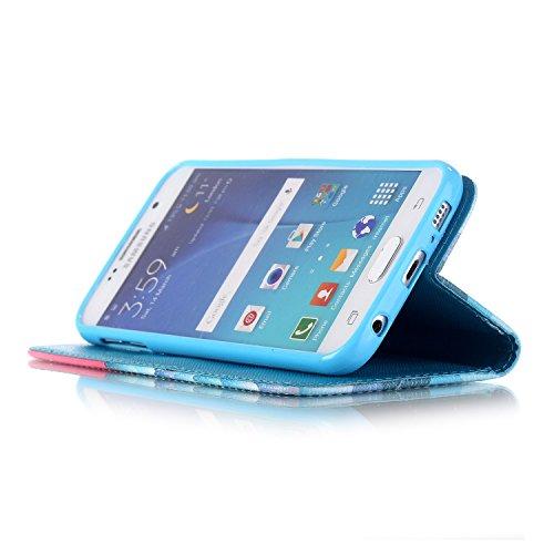 """Ooboom® iPhone 6S/6 Plus Coque PU Cuir Flip Housse Étui Cover Case Wallet Portefeuille Supporter avec Carte de Crédit Fentes Dragonne pour Apple iPhone 6S/6 Plus 5.5"""" - Amour Neige"""
